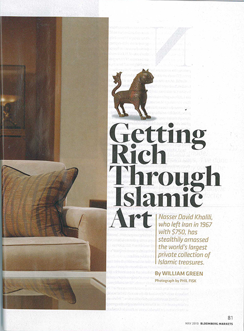 GETTING RICH THROUGH ISLAMIC ART – BLOOMBERG ARTICLE