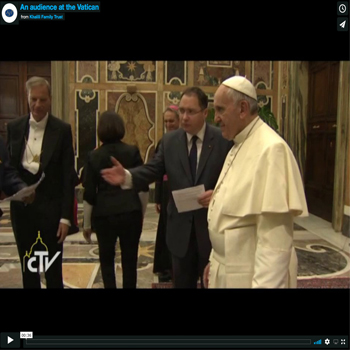 An audience with the His Holiness Pope Francis