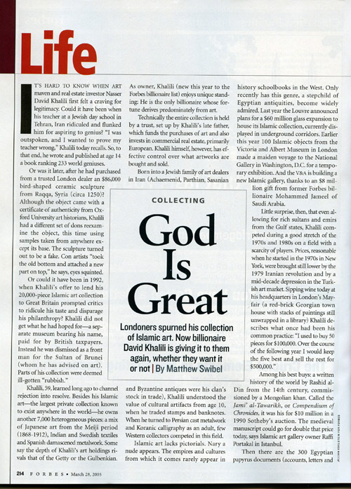GOD IS GREAT – FORBES US MAGAZINE