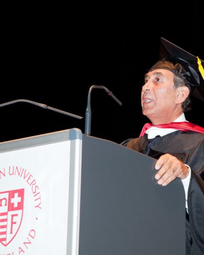 Speaking at the ceremony of Receiving Honorary Degree, Doctor of Humanities, Franklin University, Lugano, Switzerland May 2015