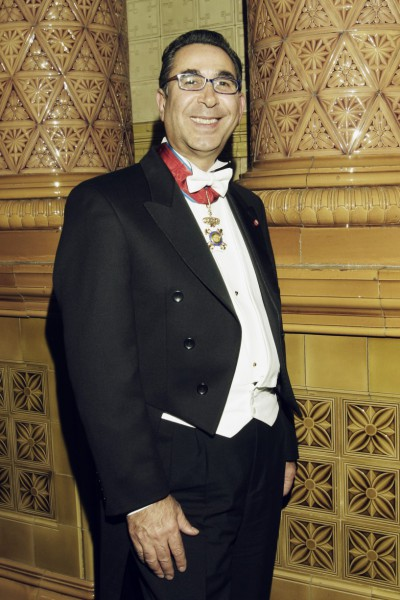 Receiving the honour, Knight Commander of the Royal Order of Francis I (KCFO), 2003.
