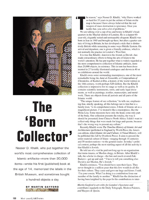 THE BORN COLLECTOR – ART NEWS  01 June 2006