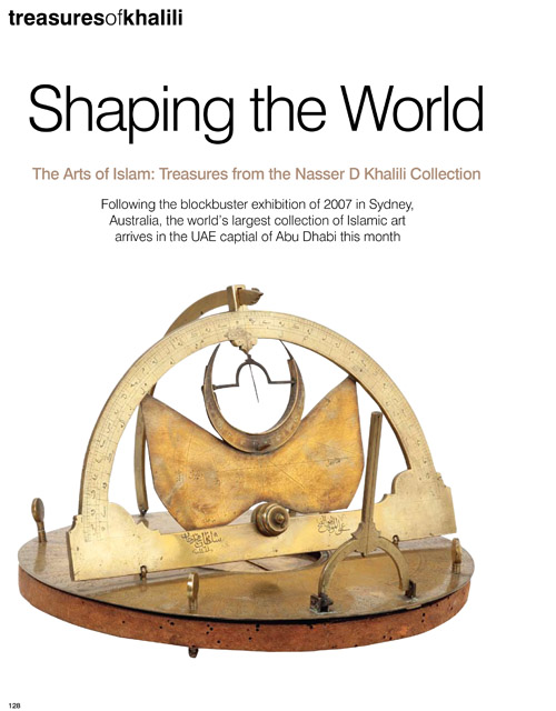 TREASURES OF KHALILI – SHAPING THE WORLD – CANVAS MAGAZINE