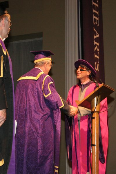 Receiving Honorary Doctor from the University of the Arts, London 2005