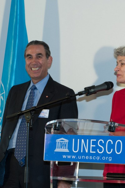 UNESCO Director General, Irina Bokova speaking at the occasion of designating Prof. Khalili as a UNESCO Goodwill Ambassador - October 2012, Paris