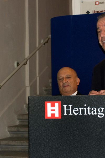 Mr. Lawrence Gonzi, prime minister of Malta speaking on the opening day of the Exhibition  - November 2011