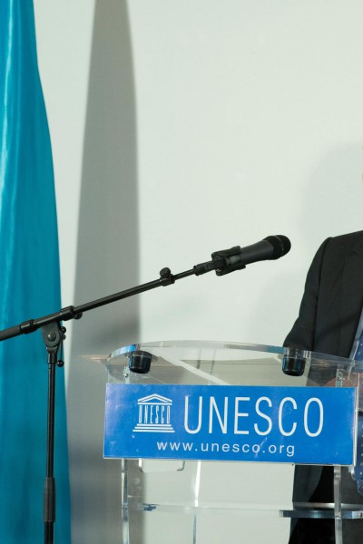 Prof. Khalili speaking at the occasion of his dasignation as a UNESCO Goodwill Ambassador - October 2012, Paris