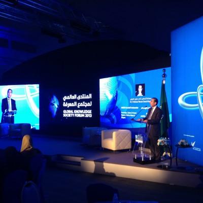 Professor Khalili, addressing the UNESCO Global Knowledge Societies Forum, at Dhahran, Saudi Arabia - December 2013