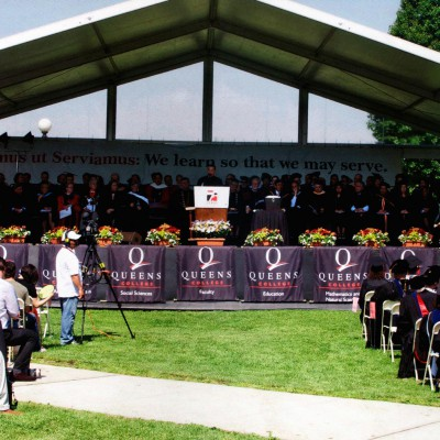 Prof. Khalili giving the commencement address to the graduation class of 2013 at Queens College New York - May 2013
