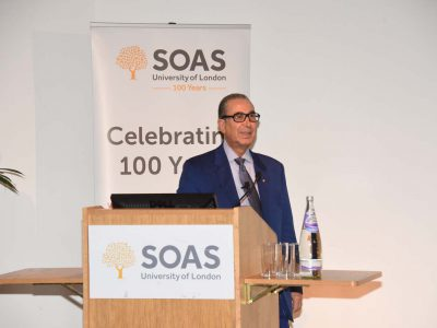 Professor Sir Nasser D. Khalili lectures at SOAS on the preservation of history through art collecting