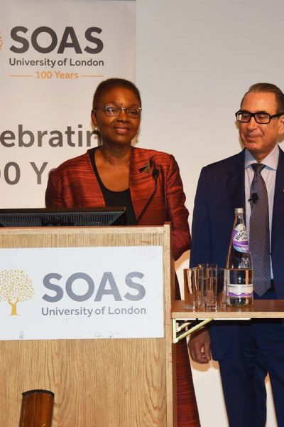 Photo with Baroness Valerie Amos, Director SOAS University of London, SOAS University of London