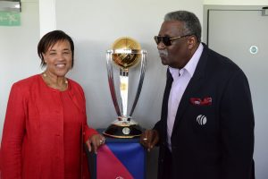 Baroness Scotland with Sir Clive Lloyd