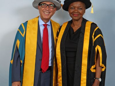 Sir David with Baroness Valerie Amos, Director of SOAS