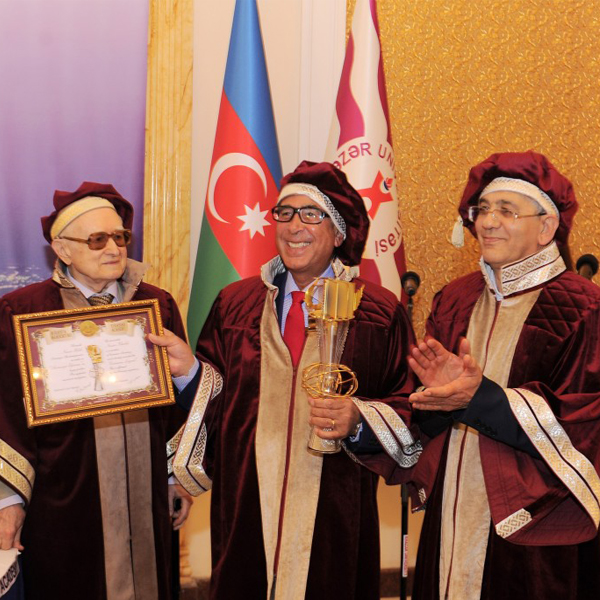 Elected to the Eurasian Academy and honoured with the prestigious Eurasian Legend Award