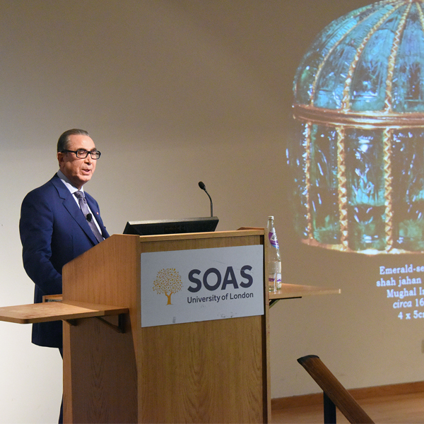Professor Sir Nasser David Khalili lectures at SOAS on the preservation of history through art collecting