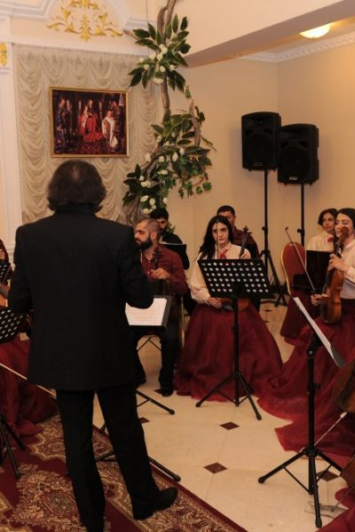 Music performed by the Khazar University Orchestra