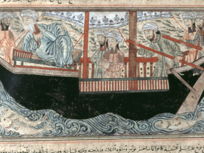 Noah's Ark, from The Jami' al-Tawarikh of Rashid al-Din, Tabriz, Iran, 714 AH (1314–15 AD)