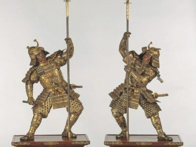 Pair of Samurai Figures, Japan, 1890