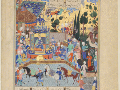Folio from the Copy of Firdawsi 's Shahnamah Made for Shah Tahmasp (Houghton Shahnamah), Tabriz, Iran,1520s – 1540s (manuscript)