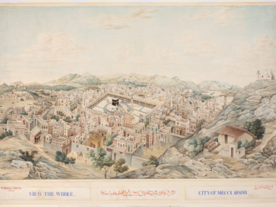 Panoramic View of Mecca, Mecca, Saudi Arabia, 1845